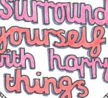 Happy Quote Mandala Sticker