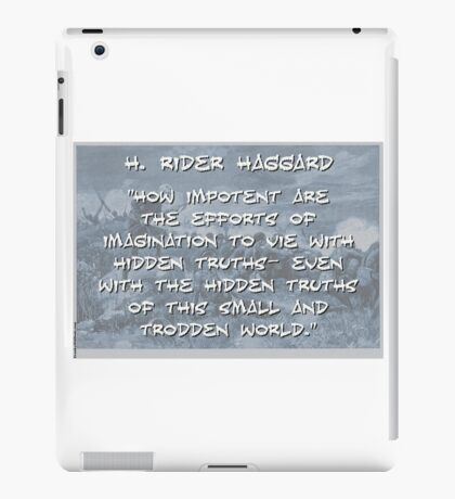 How Impotent Are The Efforts - Haggard iPad Case/Skin