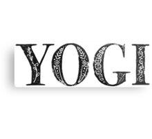 Serif Stamp Type - Yogi Metal Print