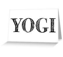 Serif Stamp Type - Yogi Greeting Card