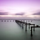 Sunset at Kwinana Beach Jetty,  Rockingham W.A. by Sandra Chung