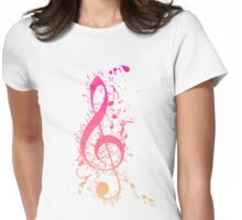 Musical Expression Watercolor Art Womens Fitted T-Shirt