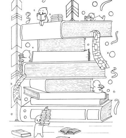 Reading Books Sticker