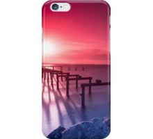 Sunset at Kwinana Beach Jetty,  Rockingham W.A. iPhone Case/Skin