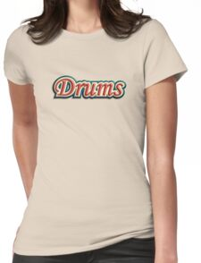 Vintage Drums Womens Fitted T-Shirt