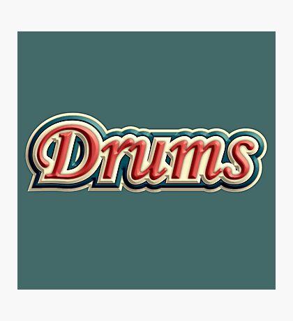 Vintage Drums Photographic Print