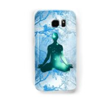 Floating Yogi in the Trees in blue Samsung Galaxy Case/Skin