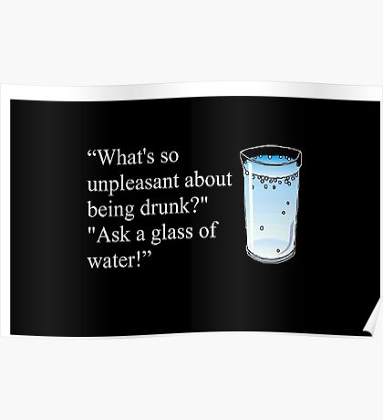 Hitchhiker's Guide to the Galaxy drinking quote Poster