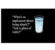 Hitchhiker's Guide to the Galaxy drinking quote Photographic Print