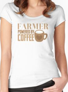 FARMER powered by coffee Women's Fitted Scoop T-Shirt