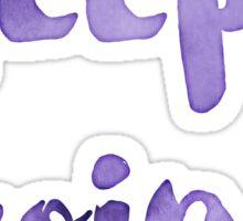 Keep going! cool watercolour motivation Sticker