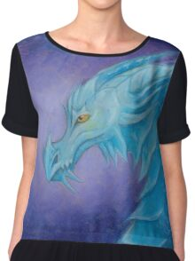 The Cool Blue Dragon Chiffon Top