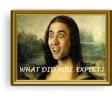 What Did You Expect? Canvas Print