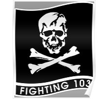 """Strike Fighter Squadron 103 """"the Jolly Rogers"""" - US Navy Poster"""