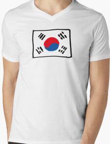 Korean Mens V-Neck T-Shirt