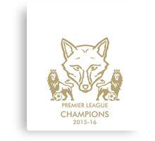 Leicester City Premier League Champions 1 Canvas Print