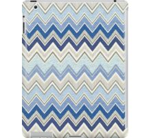 Geometric, Chevron, Tribal, Blue Hue Print Design iPad Case/Skin