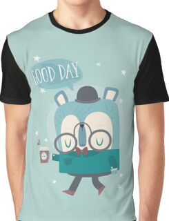 Snazzy Bear Says Good Day Graphic T-Shirt