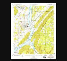 USGS TOPO Map Alabama AL Bridgeport 303332 1945 24000 Unisex T-Shirt