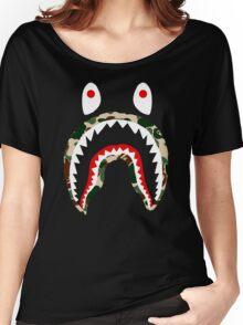 SHARK CAMO Women's Relaxed Fit T-Shirt