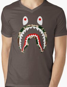 SHARK CAMO Mens V-Neck T-Shirt
