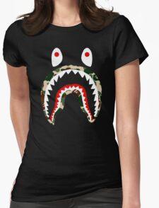 SHARK CAMO Womens Fitted T-Shirt
