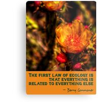 The First Rule of Ecology Metal Print