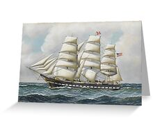 Antonio Jacobsen - The American full-rigger 'Jeremiah Thompson' ... Greeting Card