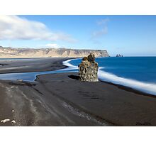 Black Beach at Vik Photographic Print