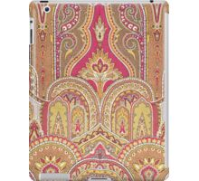 Tribal, Moroccan, Red Orange Brocade Design iPad Case/Skin
