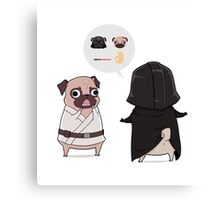 Pug Wars Canvas Print