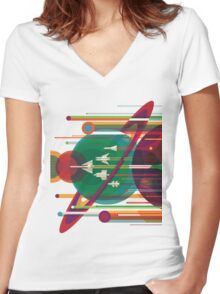 Grand Tour Women's Fitted V-Neck T-Shirt