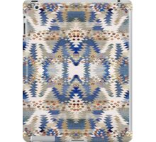 Tribal, Native American, Geometric, Blue Brown Pattern iPad Case/Skin