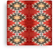 Tribal, Native American, Navajo Pattern Geometric Canvas Print