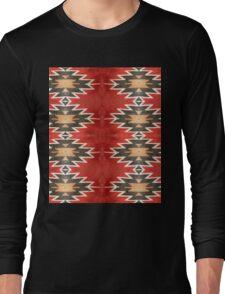 Tribal, Native American, Navajo Pattern Geometric Long Sleeve T-Shirt