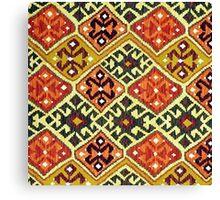 Tribal, Geometric, Diamond Shape, Bold and Bright Canvas Print