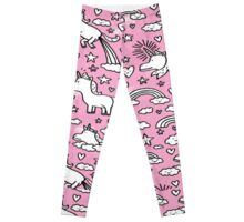 Pink Unicorn Patterned Design! Leggings