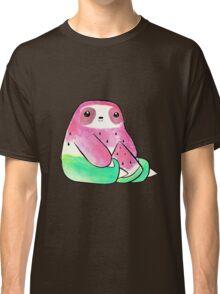 Watermelon Watercolor Sloth Classic T-Shirt