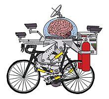 Brain Bike Photographic Print