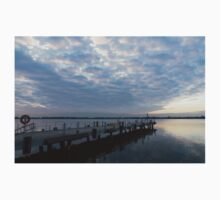 Morning Jetty - A Luminous Daybreak On The Waterfront Kids Tee