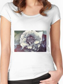 In the face of the Flower Women's Fitted Scoop T-Shirt