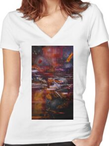 Science Fiction Women's Fitted V-Neck T-Shirt