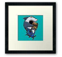 Burger Shark Framed Print