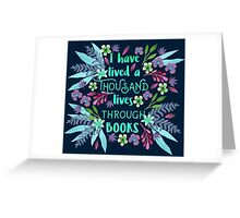 Thousand Lives Greeting Card