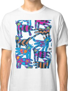 Colorful Abstract Coyote Art Duvet Cover Classic T-Shirt