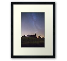 Blubberhouses The church of St Andrew's and the Milky Way Framed Print