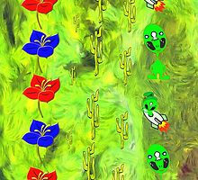 Flowers, Cacti and Aliens montage by Dennis Melling