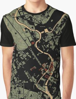Berlin city engraving map Graphic T-Shirt