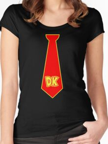 donkey kong neck tie Women's Fitted Scoop T-Shirt