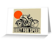 BUILT FOR SPEED-VINTAGE MOTORCYCLE Greeting Card